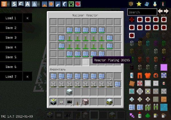 Minecraft ядерный реактор